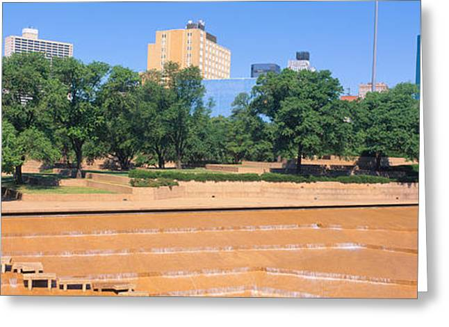 Park Scene Greeting Cards - Fort Worth, Texas Greeting Card by Panoramic Images