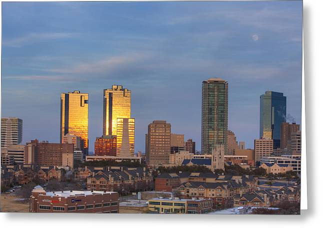 Ft Worth Greeting Cards - Fort Worth Texas skyline 2 Greeting Card by Rob Greebon
