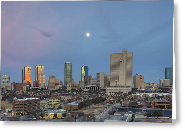Ft Worth Greeting Cards - Fort Worth Texas skyline 3 Greeting Card by Rob Greebon