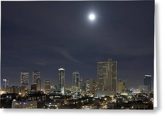 Ft Worth Greeting Cards - Fort Worth Texas skyline 4 Greeting Card by Rob Greebon