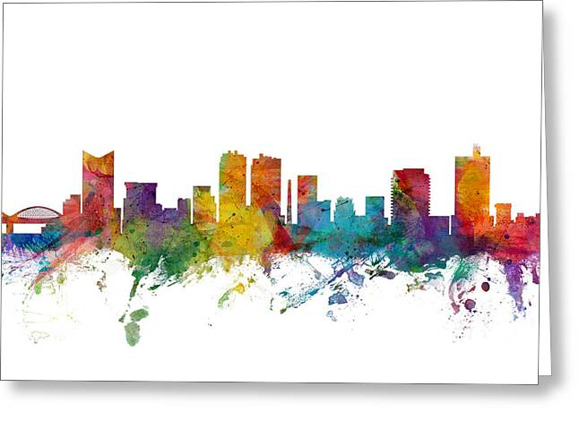 Fort Worth Texas Greeting Cards - Fort Worth Texas Skyline Greeting Card by Michael Tompsett