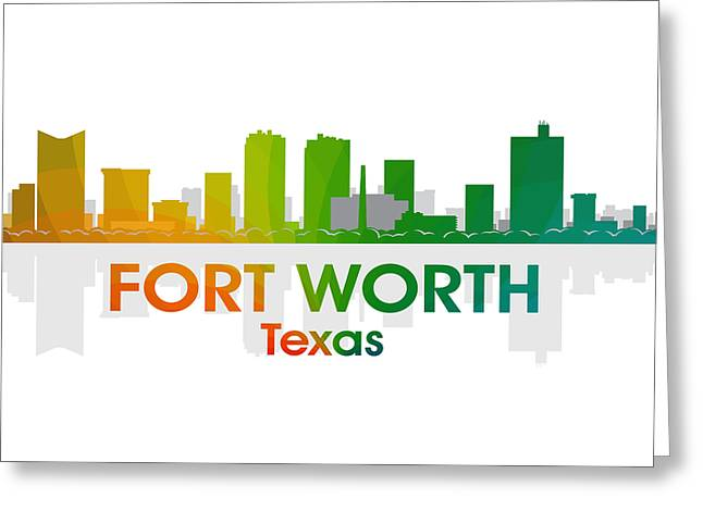 Industrial Icon Greeting Cards - Fort Worth TX Greeting Card by Angelina Vick