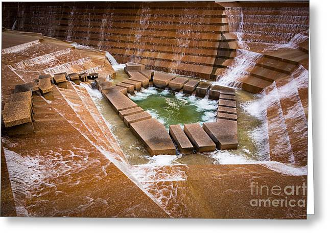Fort Worth Greeting Cards - Fort Worth Water Gardens Greeting Card by Inge Johnsson