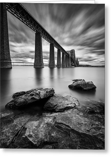 Listed Greeting Cards - Forth Bridge Greeting Card by Dave Bowman