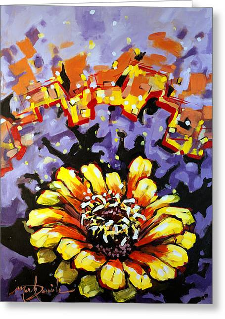 Burst Paintings Greeting Cards - Forth Greeting Card by Mark Daniels