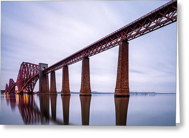 Both Greeting Cards - Forth Rail Bridge Colour Greeting Card by John Farnan