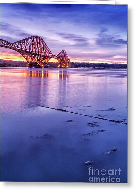 East Coast Greeting Cards - Forth Rail Bridge Greeting Card by John Farnan