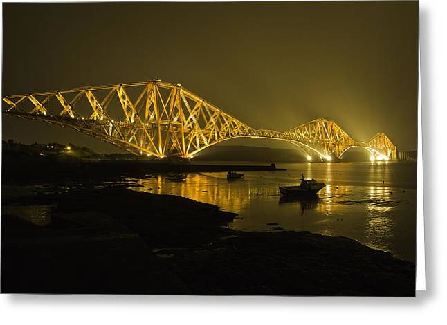 Buster Brown Greeting Cards - Forth Rail Bridge Scotland Greeting Card by Buster Brown