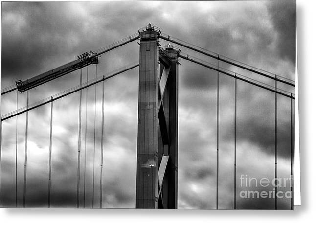 Road Picture Greeting Cards - Forth Road Bridge Greeting Card by John Farnan