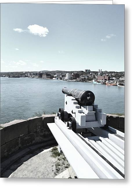 History Channel Digital Art Greeting Cards - Fortification NFLD Greeting Card by Steve Hurt