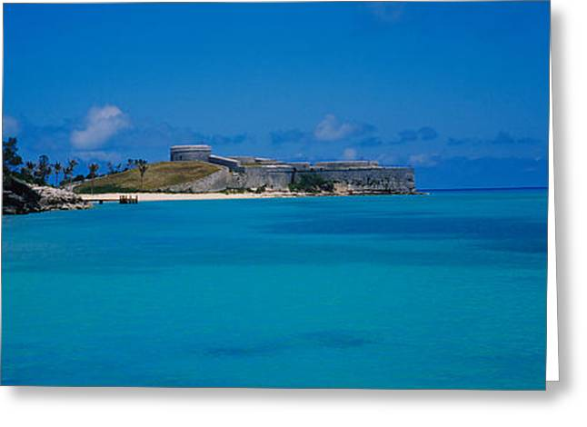 Seascape Photography Photographs Greeting Cards - Fortress At The Waterfront, Fort St Greeting Card by Panoramic Images