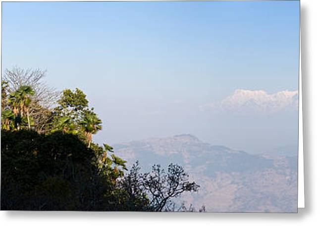 The Hills Greeting Cards - Fortress On A Hill, Gorkha Durbar Greeting Card by Panoramic Images