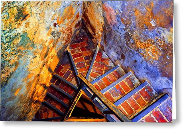 Fortress Steps Greeting Card by Stephen Anderson