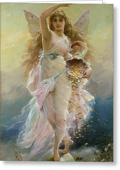 Francois Paintings Greeting Cards - Fortuna Greeting Card by Jean Francois Armand Felix Bernard