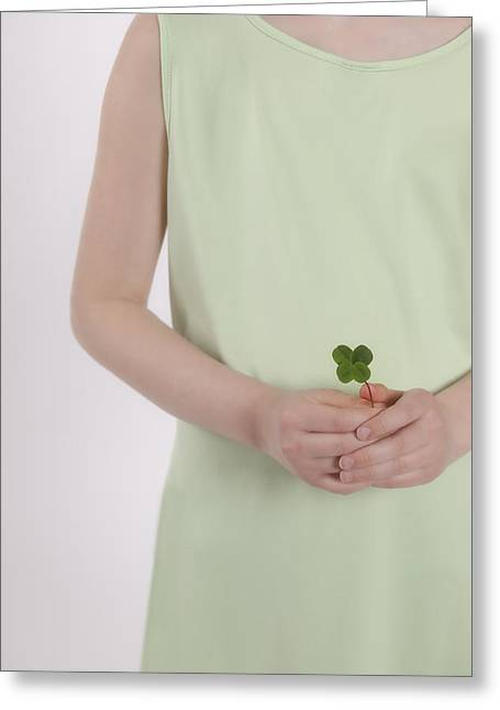 Shamrock Greeting Cards - Fortune Greeting Card by Joana Kruse