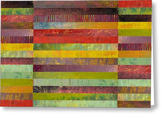Black Olives Greeting Cards - Forty Five Stripes Greeting Card by Michelle Calkins