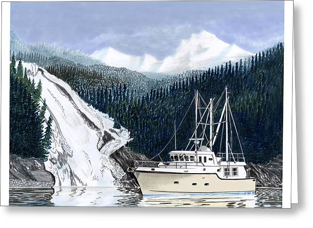 To Can Greeting Cards - Forty Foot Nordhavn Northern Anchorage Greeting Card by Jack Pumphrey