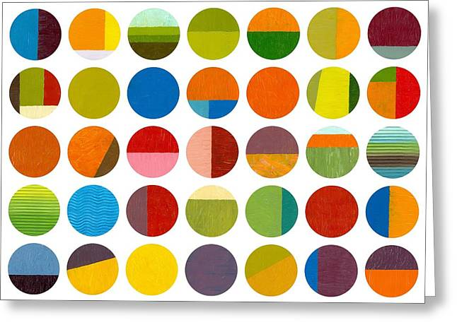 Painted Details Digital Art Greeting Cards - Forty Nine Circles Greeting Card by Michelle Calkins