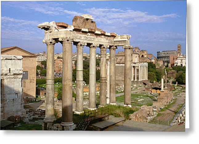 B.c. Greeting Cards - Forum, Rome, Italy Greeting Card by Panoramic Images