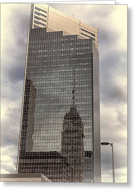 Decorate Greeting Cards - Foshay Reflections 2 Greeting Card by Todd and candice Dailey