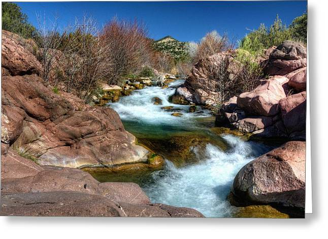 Power Plants Greeting Cards - Fossil Creek Roars Greeting Card by Thomas  Todd