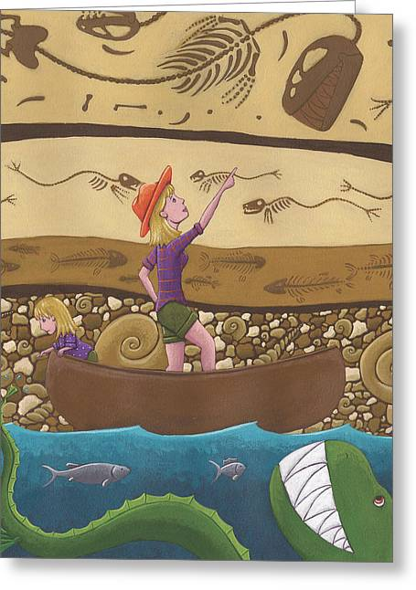 Fossil Art Greeting Cards - Fossils Greeting Card by Christy Beckwith