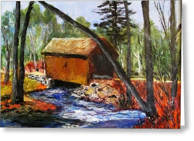Foster Covered Bridge  Greeting Card by Art  Stenberg