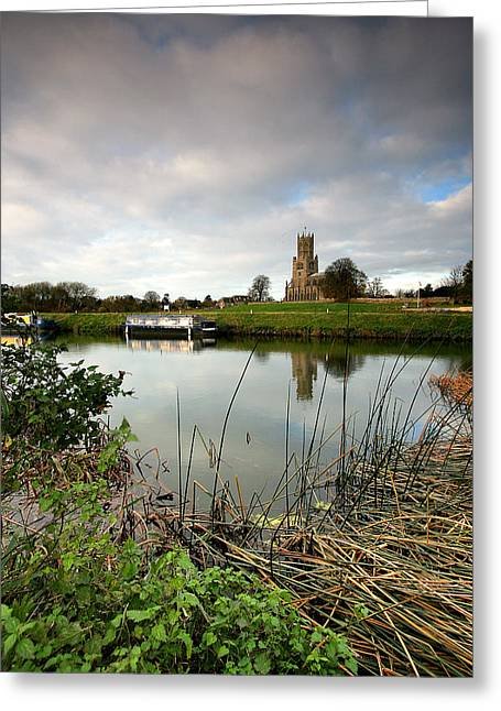 Northamptonshire Greeting Cards - Fotheringhay Greeting Card by Bob Caddick