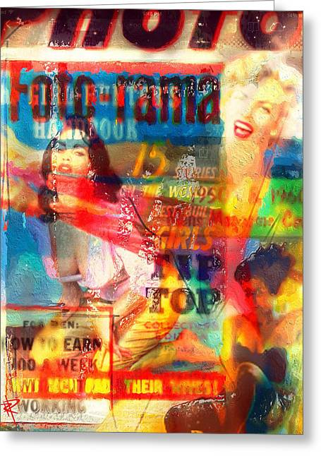 Magazine Cover Mixed Media Greeting Cards - Foto Rama Greeting Card by Russell Pierce