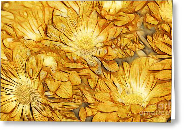 Daisy Digital Greeting Cards - Foulee de Petales - tuy33b Greeting Card by Variance Collections