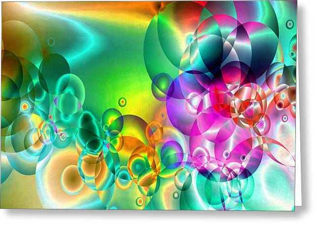 Abstract Orbs Greeting Cards - Found 1 Greeting Card by Angelina Vick