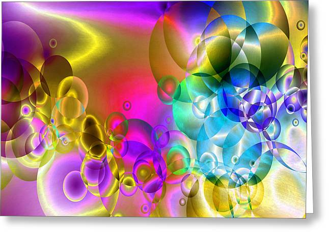 Abstract Orbs Greeting Cards - Found 2 Greeting Card by Angelina Vick