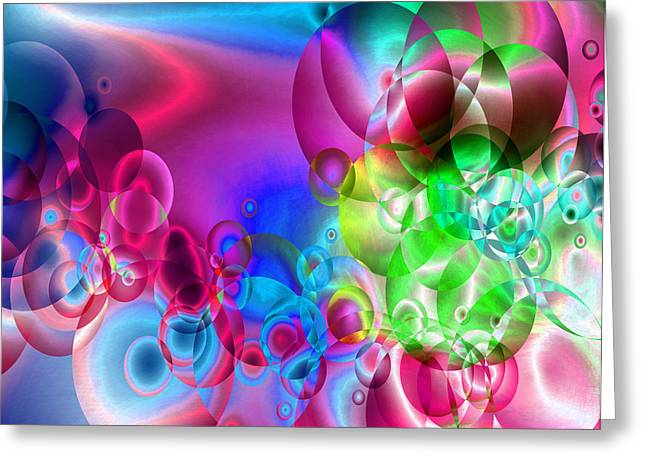 Abstract Orbs Greeting Cards - Found 3 Greeting Card by Angelina Vick