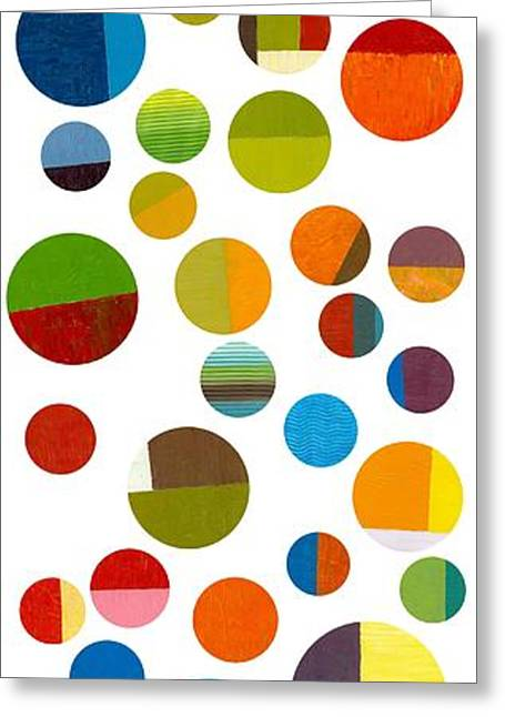 Geometric Image Greeting Cards - Found My Marbles 1.0 Greeting Card by Michelle Calkins