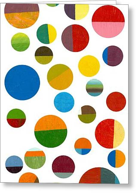 Geometric Image Greeting Cards - Found My Marbles 2.0 Greeting Card by Michelle Calkins
