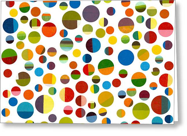 Geometric Image Greeting Cards - Found My Marbles 3.0 Greeting Card by Michelle Calkins