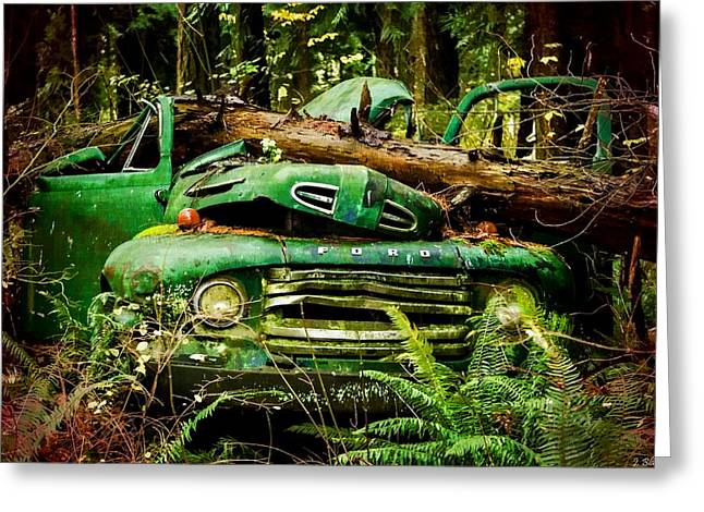 Clunker Greeting Cards - Found Off Road Dead Greeting Card by Jordan Blackstone