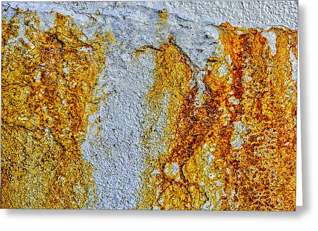Grunge Greeting Cards - Foundation Rust Two Greeting Card by Bob Orsillo