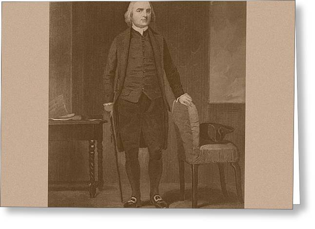Founding Father Samuel Adams Greeting Card by War Is Hell Store
