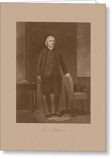 Treasury Greeting Cards - Founding Father Samuel Adams Greeting Card by War Is Hell Store