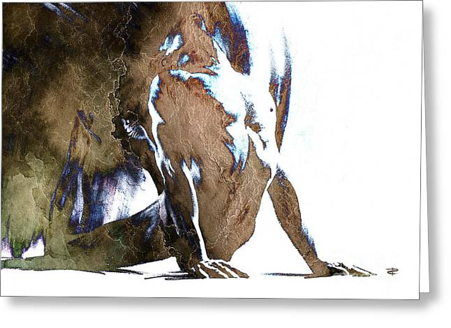 Nude Overlay Greeting Cards - Fount III - with mood texture Greeting Card by Paul Davenport