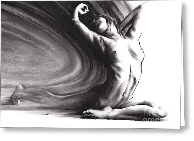 Nude Overlay Greeting Cards - Fount iV Greeting Card by Paul Davenport