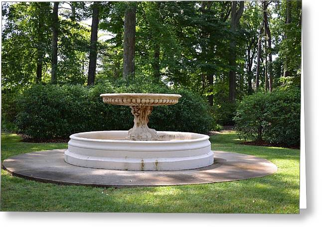 Summer Greeting Cards - Fountain at NBG Greeting Card by Lanjee Chee