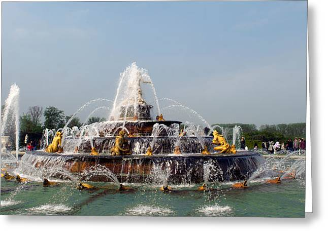 Bassin Greeting Cards - Fountain In A Garden, Bassin De Latone Greeting Card by Panoramic Images