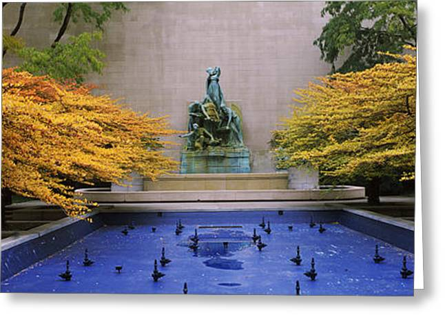 The Great Lakes Greeting Cards - Fountain In A Garden, Fountain Of The Greeting Card by Panoramic Images