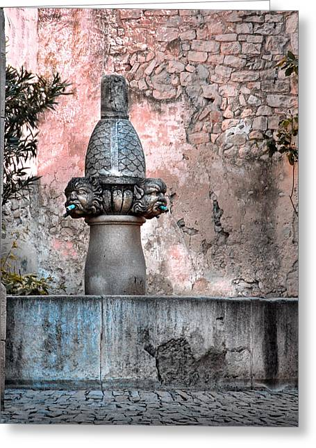 Provence Village Greeting Cards - Fountain In Provence Greeting Card by Dave Mills