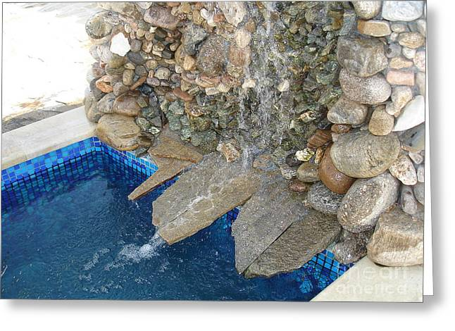 Stone Reliefs Greeting Cards - Fountain in the yard Greeting Card by Nikolay Ilchevski