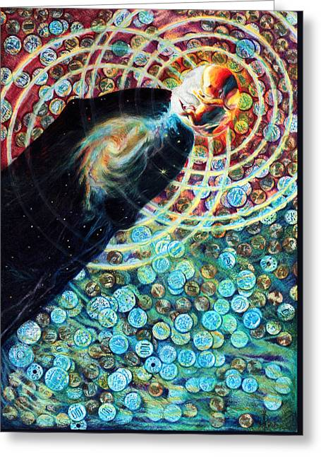 Visionary Artist Greeting Cards - Fountain Greeting Card by Kd Neeley