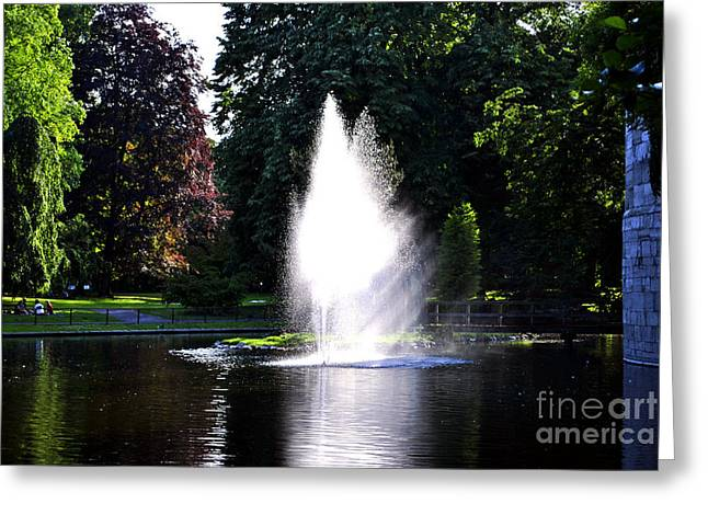 Limburg Greeting Cards - Fountain Greeting Card by Maja Sokolowska