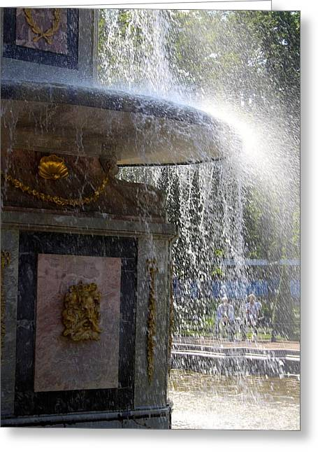 Michael Fitzpatrick Greeting Cards - Fountain Greeting Card by Michael Fitzpatrick